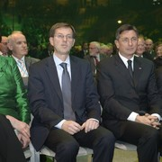 European Commissioner for Transport Violeta Bulc, Prime Minister of the Republic of Slovenia Miro Cerar, The President of the Republic of Slovenia Borut Pahor and Mayor of Ljubljana Zoran Janković