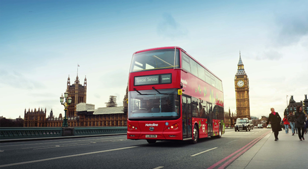 First pure electric double deck buses on streets of London