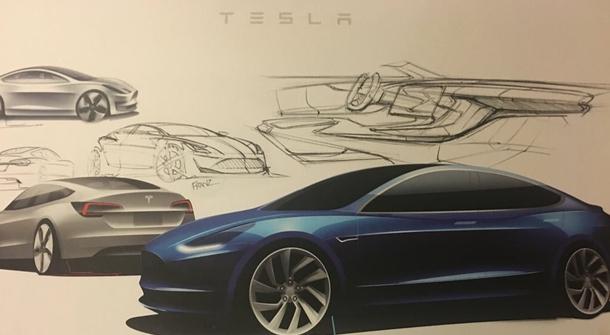 Tesla Model 3 electric car boasts skyrocketing pre-orders!