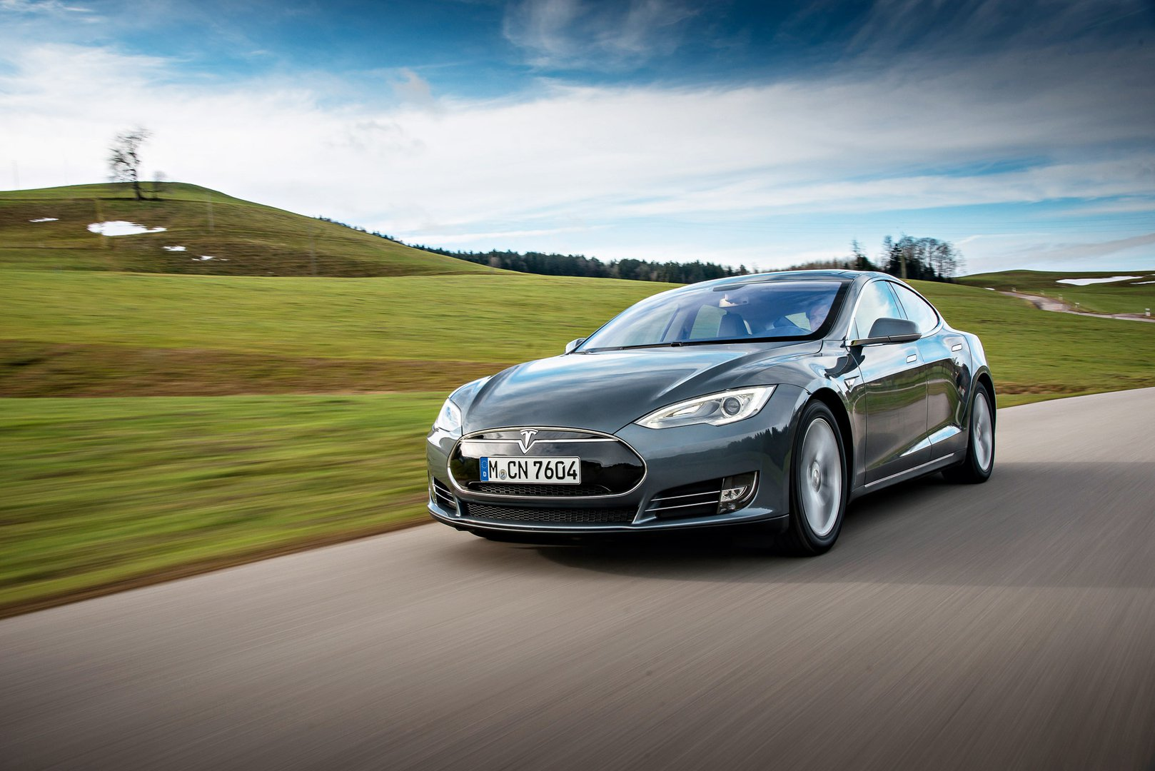 Production Electric Car Speed Record Tesla