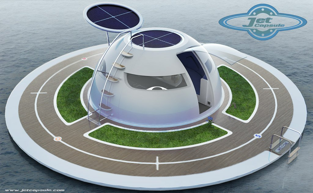 Ufo The Solar Charged Floating House For Off Grid Living On The