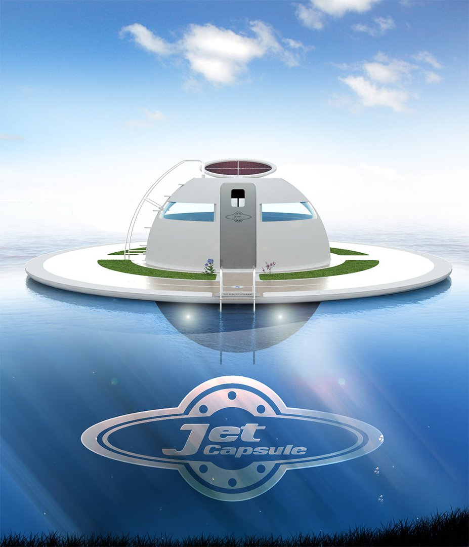 u.f.o., the solar-charged floating house for off-grid living on