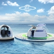 U.F.O., the solar-charged floating house for off-grid living on the sea
