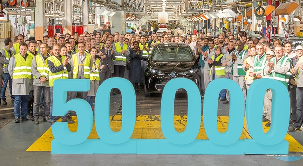 50,000th Renault Zoe off the production line!