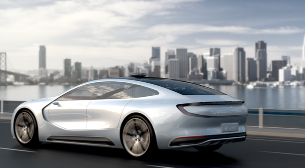 LeSee self-driving all-electric car concept shown in Beijing