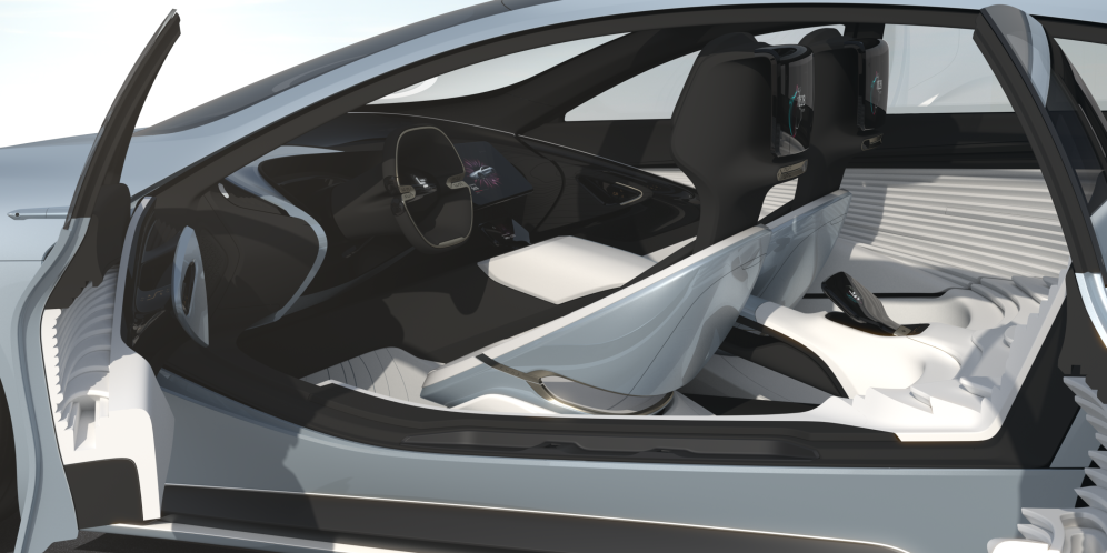LeSee self-driving all-electric car concept shown in Beijing ...