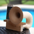 Symphonica natural sustainable wood acoustic horn speaker