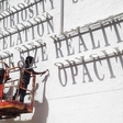 Artful: letters casting shadow graffiti