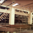 Soothing airport passengers with kinetic rain