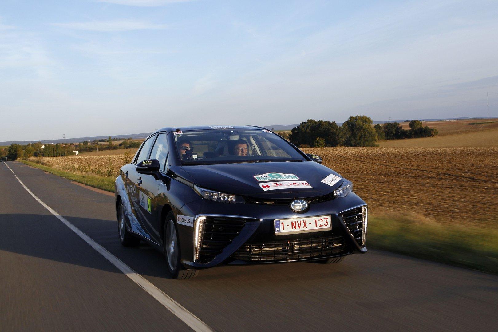 hydrogen toyota mirai 39 s historic win at the e rally monte carlo driving plugin. Black Bedroom Furniture Sets. Home Design Ideas