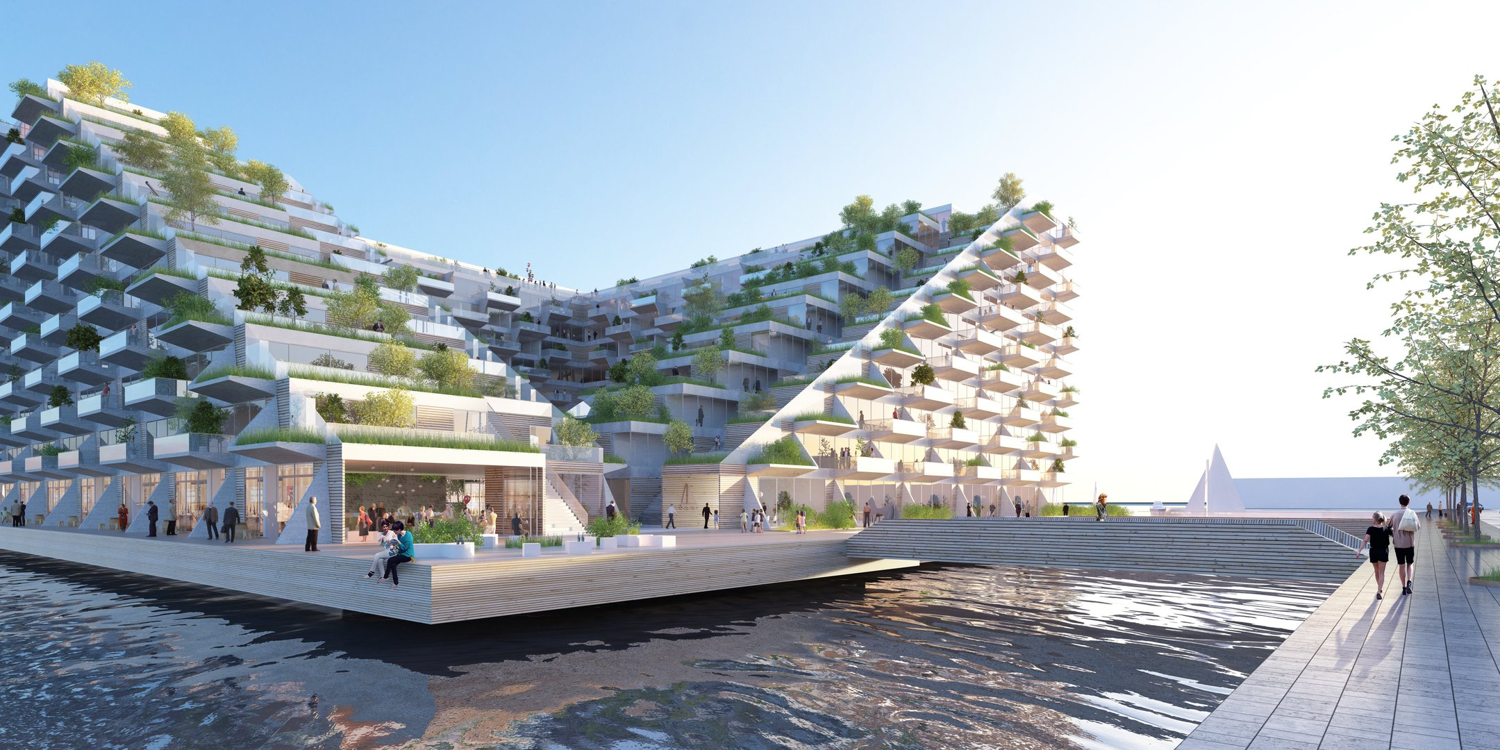 Sluishuis the zero energy wonder of amsterdam living for Big bjarke ingels group