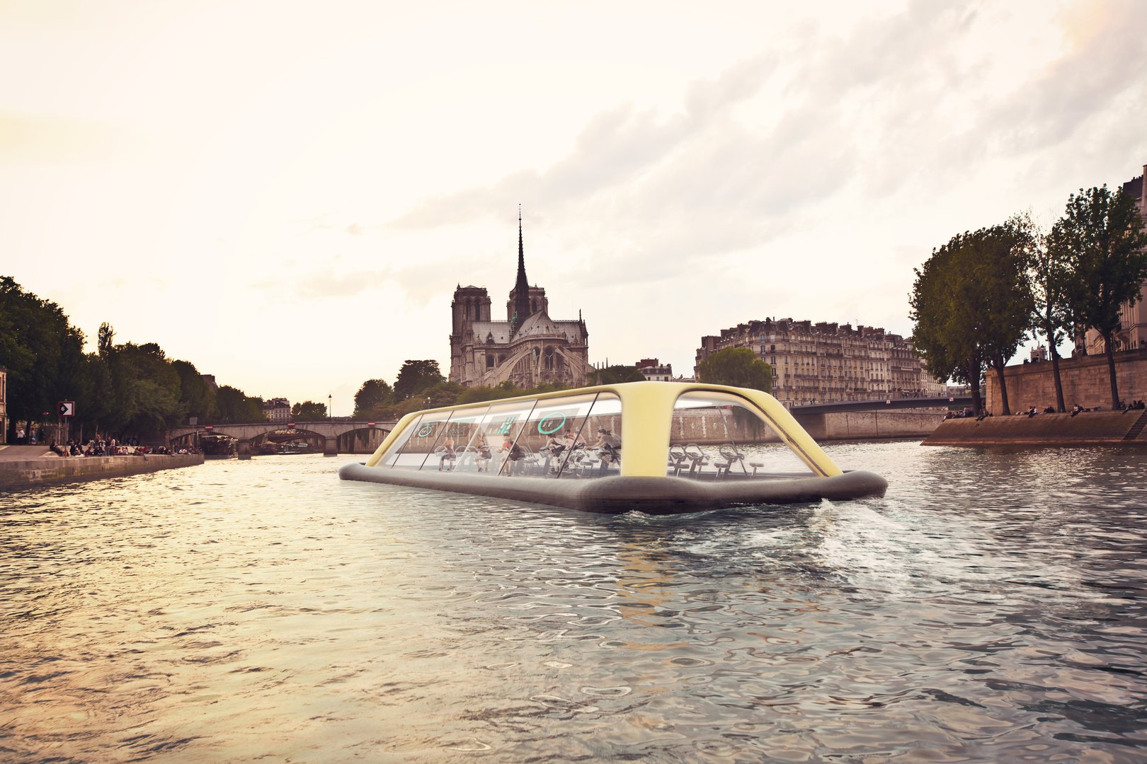 Floating gym will move on the Seine due to the energy of its visitors 14