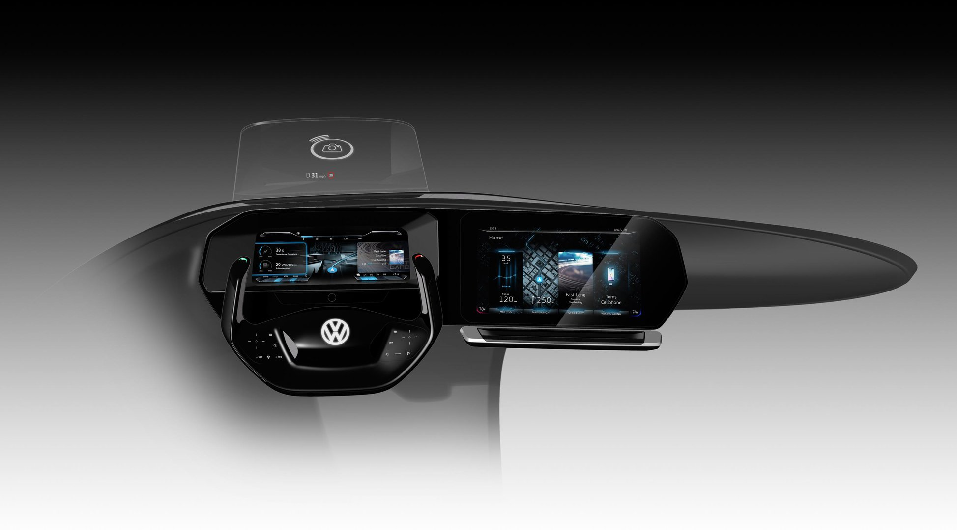 Auto cockpit vw  At this year's CES, Volkswagen is demonstrating its ideas about ...