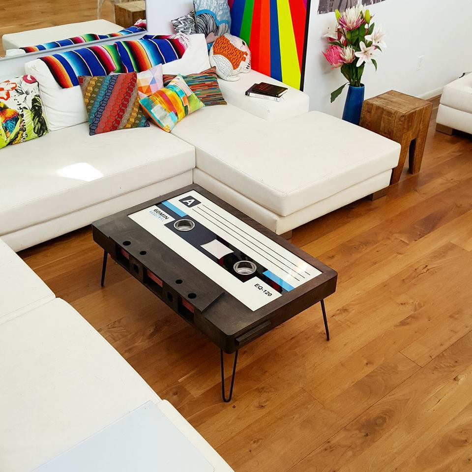 Taybles Presents The Cassette Tape Coffee Table A Stylish Reminder - Cassette coffee table