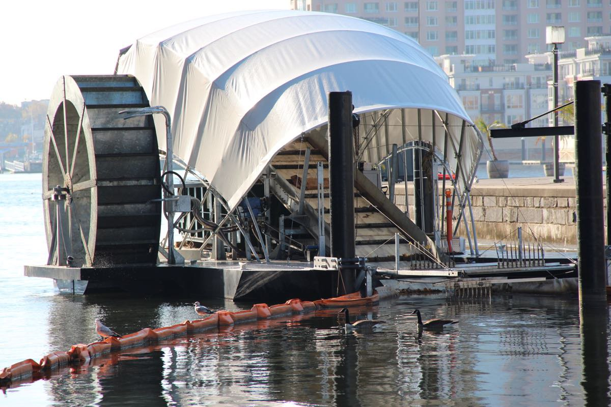 Solar Powered Mr Trash Wheel Cleans The Harbour Living
