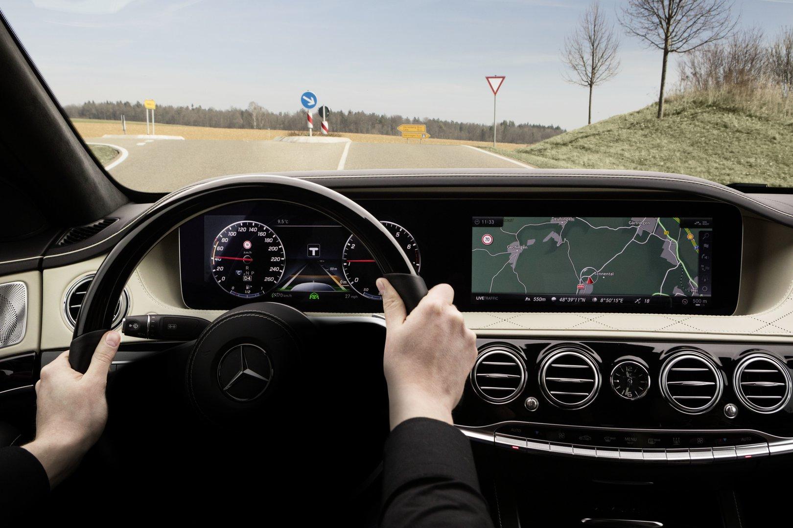 The new mercedes benz s class is a major step towards for Mercedes benz autonomous driving