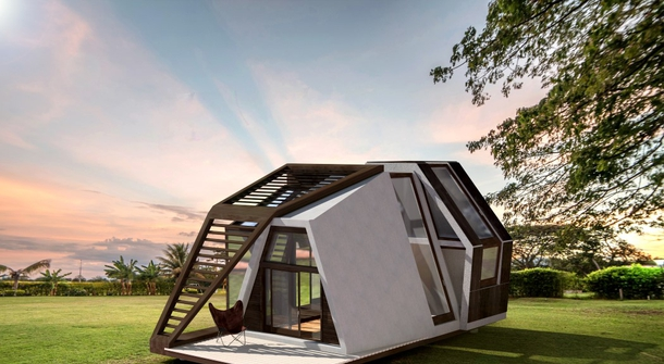 A mobile life in a pre-built mini home