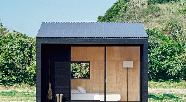 The Muji Hut, a tiny house in Japan