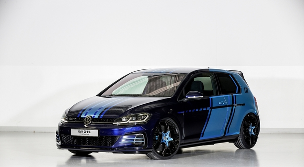 Volkswagen's apprentices present the first electric GTI at the Wörthersee meeting