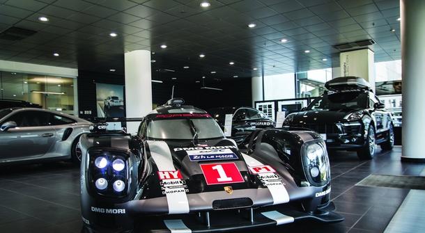 Porsche 919 Hybrid on display in Ljubljana