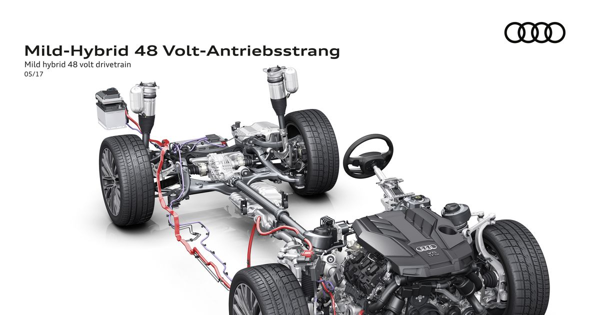 an all-new audi a8 to debut with mild hybrid technology - driving