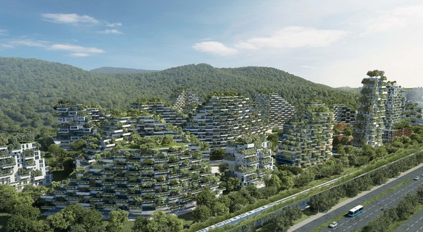 40,000 trees and almost 1 million plants from Liuzhou Forest City will thrive to decrease air pollution in China