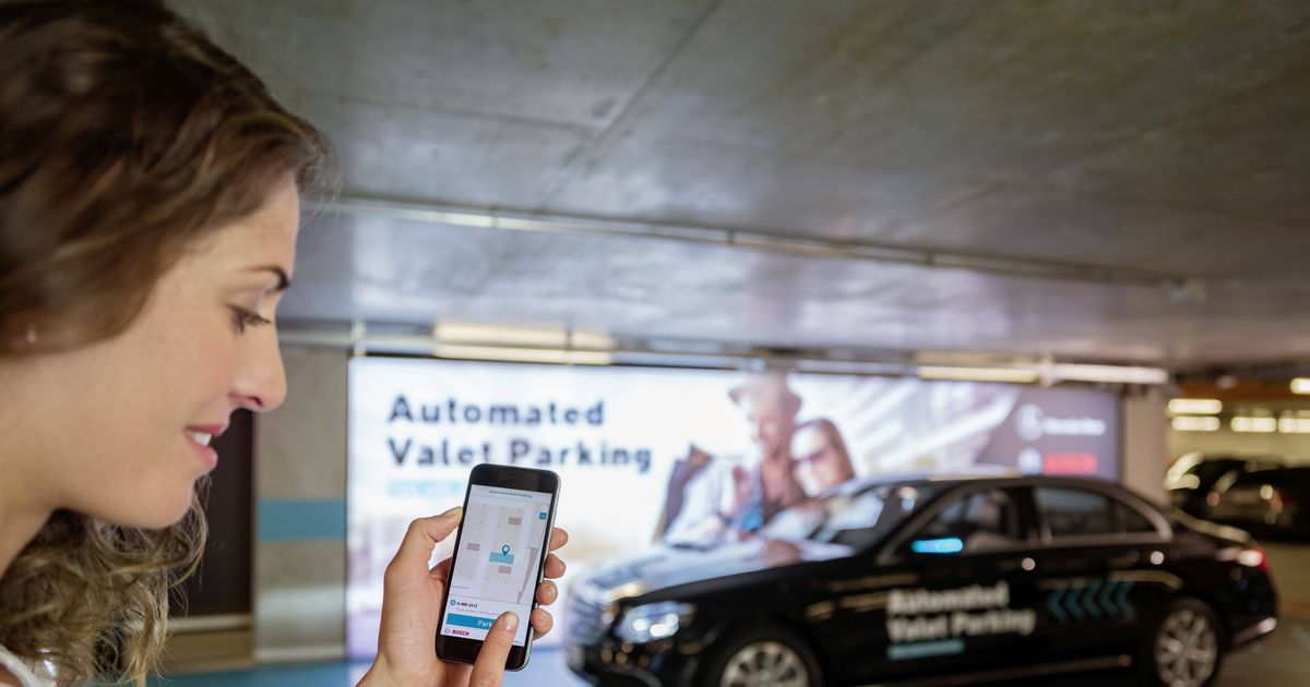 Manual Car Driving In A Parking Garage