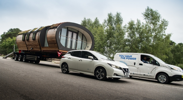 Nissan set the electric towing record