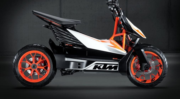 KTM confirmed the development of electric scooter