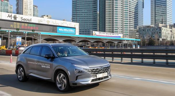 Hyundai Nexo made a long autonomous drive