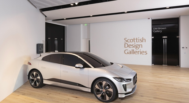 Jaguar I-Pace travels to the Scottish Design Museum