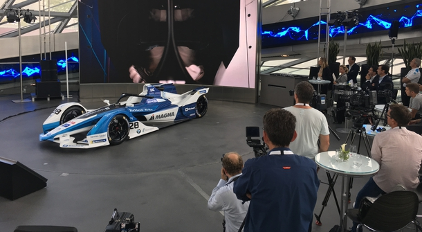 BMW introduced its electric racing car for the fifth season of Formula E
