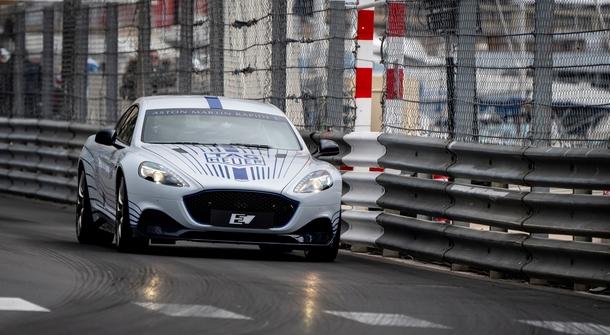 Aston Martin Rapide E hits Monaco Circuit