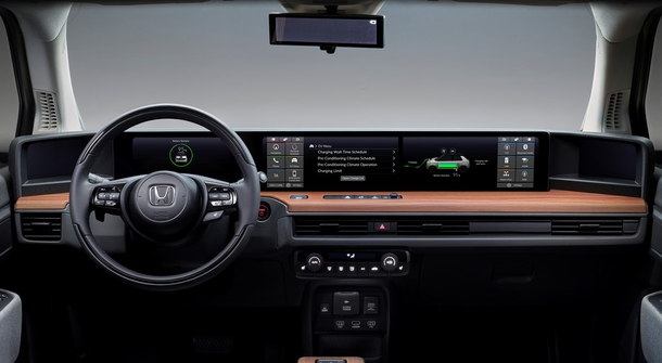 Honda e will not have one or two but five displays