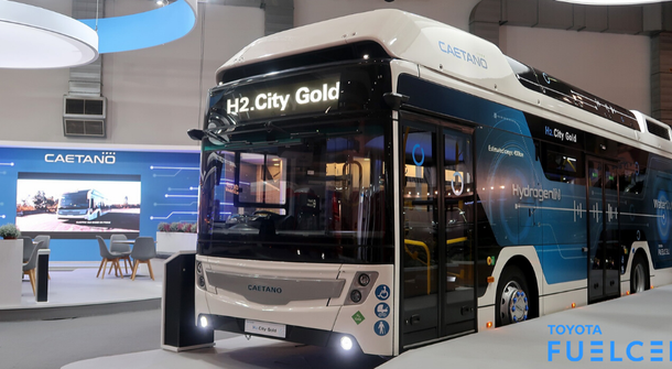 Toyota's hydrogen-powered bus ready for testing