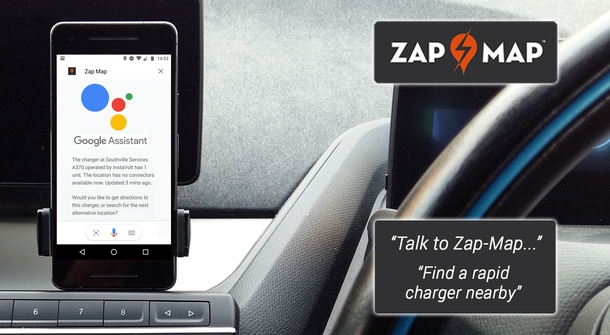 Searching for EV charger? Its easier doing it hands free
